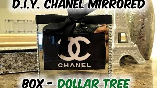 D.I.Y.  Chanel Inspired Mirrored Box- Dollar Tree