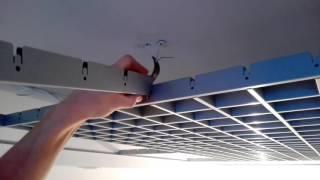 Смотреть видео потолок типа грильято