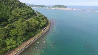 PHANTOM 4  JR九州日南線 特急「海幸山幸」をドローンで空撮