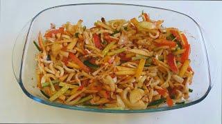 Вкусный салат из кальмара  Рецепт