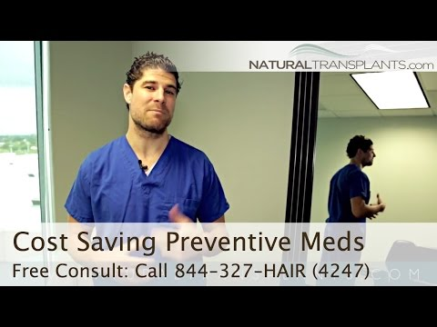 Hair Transplant Cost Saving Preventive Medications - Fort Lauderdale & Miami