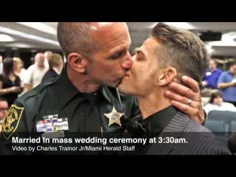 Uniformed Broward Sheriff's deputy marries boyfriend in Florida