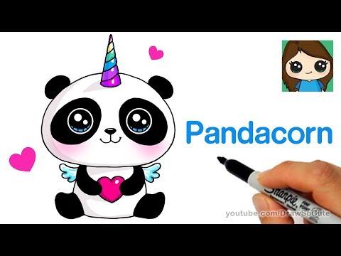 How To Draw A Pandacorn Cute And Easy Poznavatelnye I Prikolnye