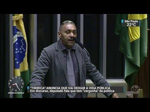 Deputado Tiririca afirma que vai deixar a carreira política   SBT Notícias (06/12/17)