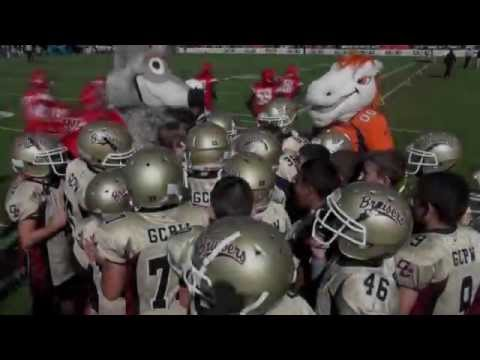 NFL Mascot Breakdown with Gilbert Chandler Bruisers at Pop Warner Super Bowl