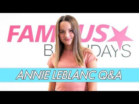 Annie LeBlanc Q&A
