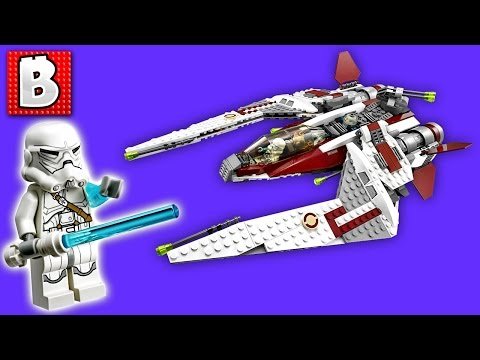 Lego Star Wars Jedi Scout Fighter Set 75051   Unbox Build Time Lapse Review