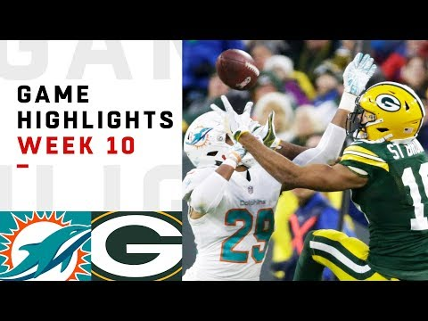 Dolphins vs. Packers Week 10 Highlights | NFL 2018