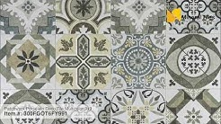 Patchwork Patterned Floor Tiles - Vintage Style