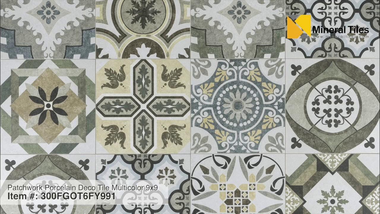 Patchwork Patterned Floor Tiles