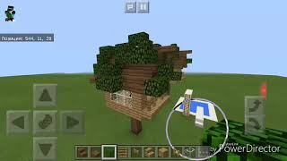 Домик на дереве-обучение в мпйнкрафт#2