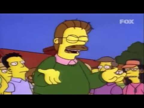 I Simpson - Ned Flanders infuriato
