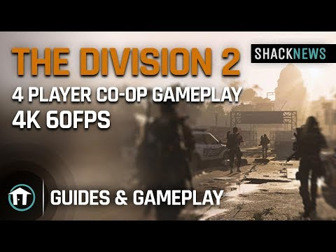 The Division 2 co-op, mission, and boss fight 4K gameplay