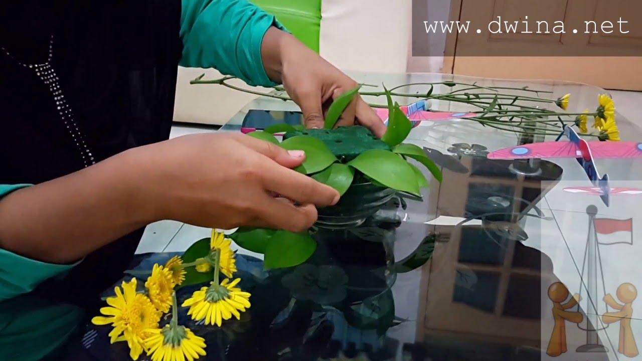 Cara Merangkai Bunga Segar Hiasan