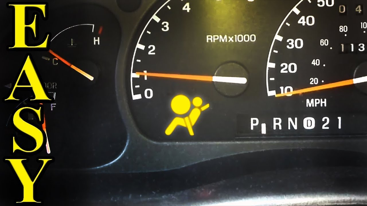 air bag light flashing  how to diagnose and fix