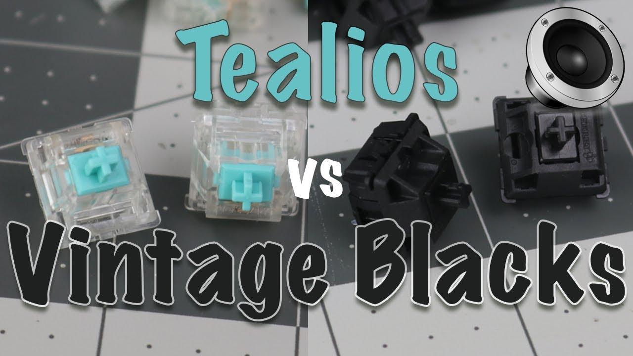 Tealios vs Vintage Blacks Typing Sounds