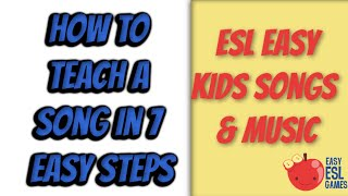 ESL Easy Kids Songs | How To Teach The Weather Song in 7 Easy Steps | Easy ESL Games