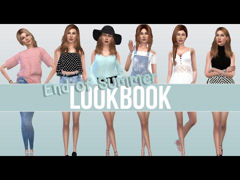 2c2f414404260 END OF SUMMER LOOKBOOK | The Sims 4 Create a Sim (w/ CC List) - YouTube