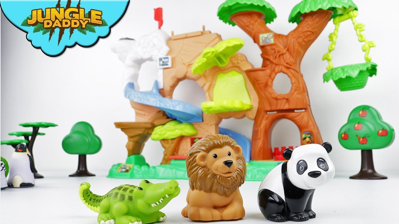 Learn Forest Animals For Kids Wild Safari Tree Little People Zoo Talkers Sounds Youtube