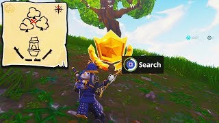 """Follow the Treasure Map Found in Dusty Divot"" FORTNITE WEEK 7 LOCATION! (Follow Treasure Map)"