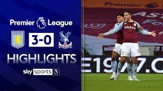 El Ghazi scores stunner for 10-man Villa! | Aston Villa 3-0 Crystal Palace | EPL Highlights