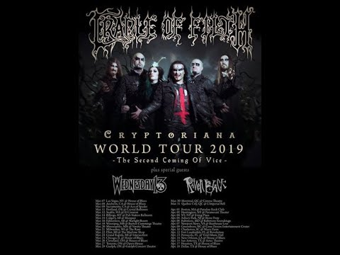 Cradle of Filth North American tour w/ Wednesday 13 and Raven Black ...!