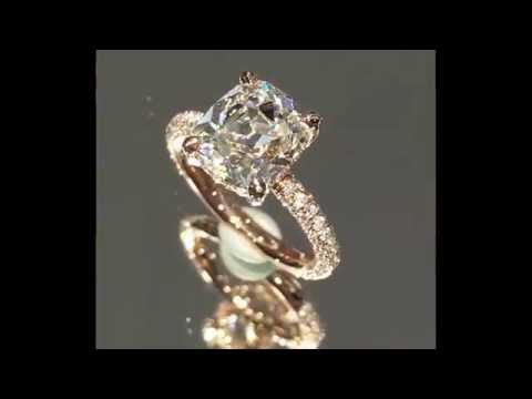 2.55 ct Antique Cushion Diamond Engagement Ring in Rose Gold