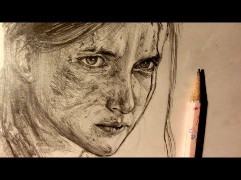 ASMR | Pencil Drawing 99 | Ellie - The Last Of Us Part II (Request)