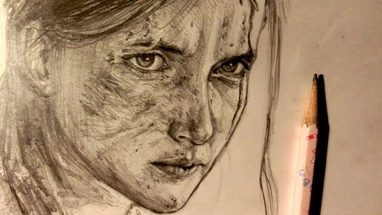 Asmr Pencil Drawing 99 Ellie The Last Of Us Part Ii Request