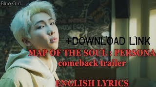 Download BTS-MAP OF THE SOUL : PERSONA (ENGLISH LYRICS)+DOWNLOAD LINK Mp3