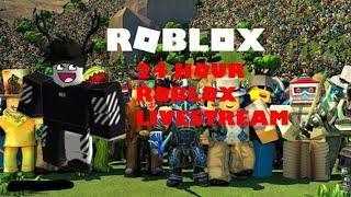 ROBLOX 24 HOUR LIVESTREAM CHALLENGE