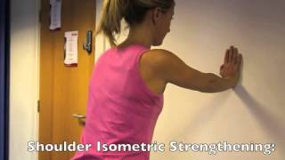 Isometric Shoulder Strengthening Clock Face Exercise