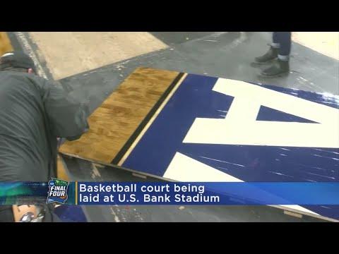 Final Four Court Gets Installed At U.S. Bank Stadium