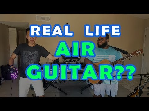 Guy Shreds on Real Life Air Guitar (NEW INVENTION)