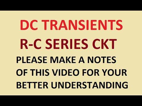 DC Transients !! R C Series Circuit !!