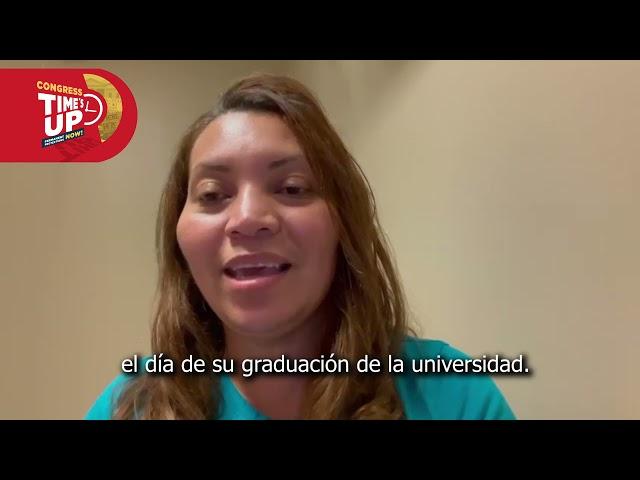 Lily Montalván, beneficiaria del TPS: ¡no podemos esperar más! | #CongressTimesUp