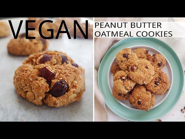 Vegan Oatmeal Peanut Butter Cookies