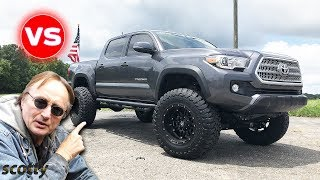 Lifted Truck Or Restored Truck - New Tacoma Vs Old Ford