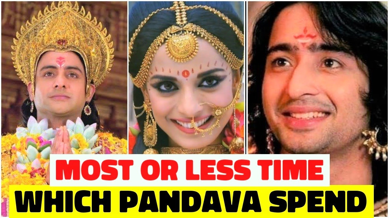 Which Pandava Spend Most or Less Time With Draupadi?