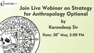 LIVE WEBINAR ON ANTHROPOLOGY DAMP - 30TH MAY, 5:00 pm