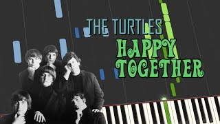 The Turtles - HAPPY TOGETHER (Piano tutorial)