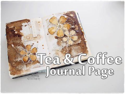 Tea & Coffee Journal Page Tutorial ♡ Maremi's Small Art ♡