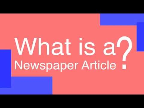 What Is A Newspaper Article?
