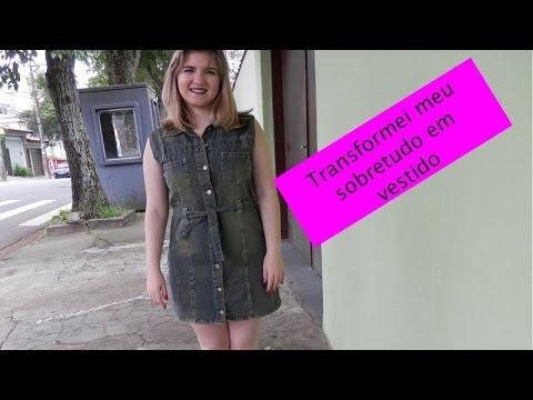 DIY: Transformando um sobretudo em vestido
