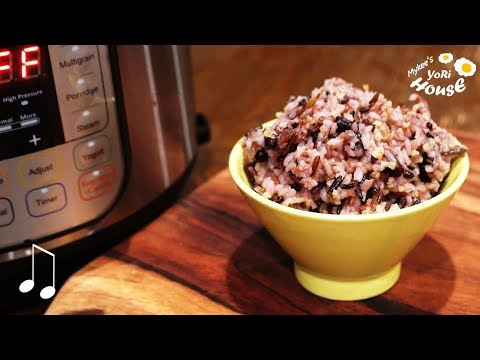 How to Cook The best Multi-Grain Rice with Instant Pot | Wild rice, pink rice, black bean rice