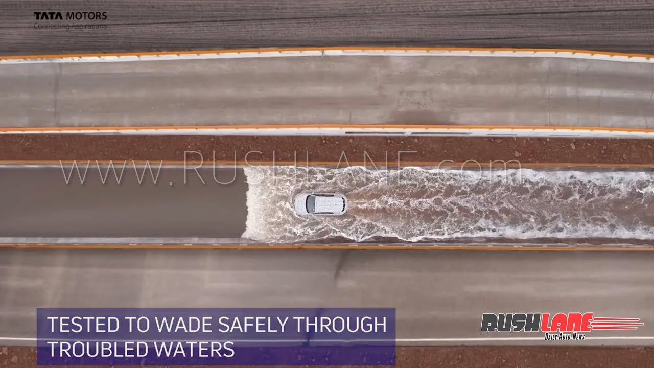 Tata Harrier high ground clearance - water wading