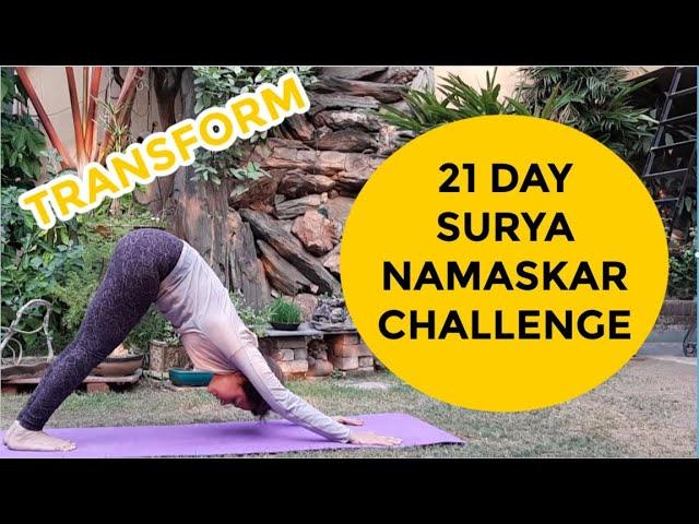 🆕21 Day Surya Namaskar Challenge Sun Salutation Challenge 2020