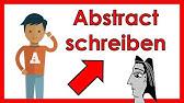 Abstract Schreiben Darauf Solltest Du Achten Youtube
