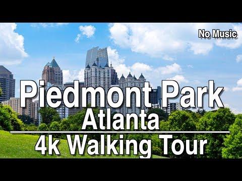 Walking Tour of Piedmont Park | 4K DJI Osmo | No Music