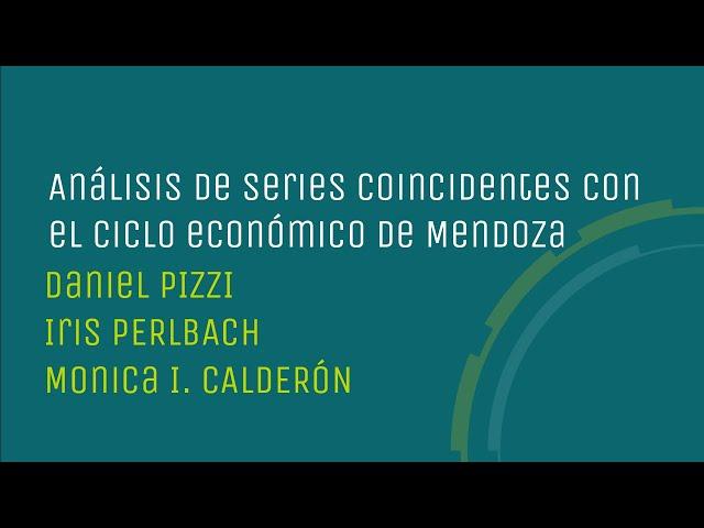 Análisis de series coincidentes con el ciclo económico de Mendoza
